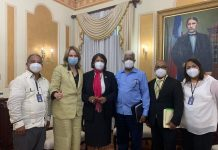 Comisión del CDP junto a la Dirección de Prensa y Comunicación del Palacio