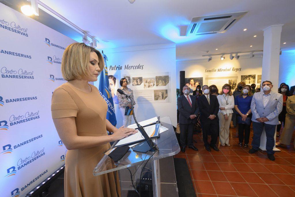 La presidenta del Voluntariado Banreservas, Noelia García de Pereyra,