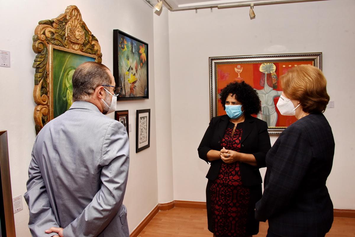 La inauguración de la exposición Jaime Colson, el legado de un maestro, en la Escuela Nacional de Artes Visuales.