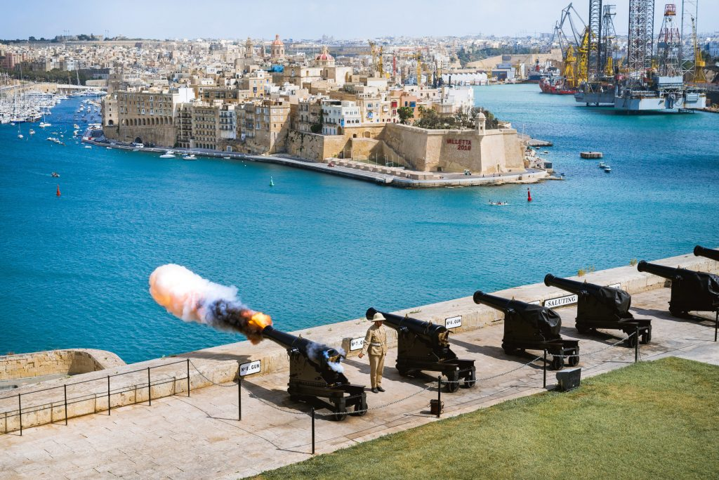 James Gabriel Martin The Saluting Battery Valletta in Malta